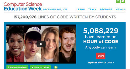 Hour of Code welcomes students into the world of computer science