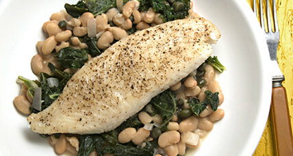 Healthy, delicious and one-pan easy: Tilapia with white beans and kale