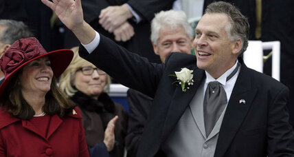 High profile Democrat, Terry McAuliffe, sworn in as Virginia's governor