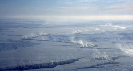 Cracks in Arctic ice sucking in toxic mercury, study finds