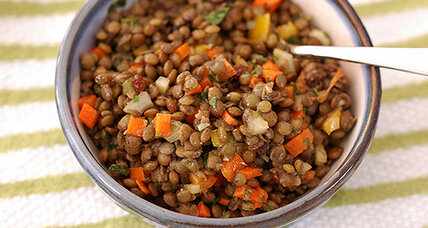 Meatless Monday: Spiced lentil salad with currants and capers