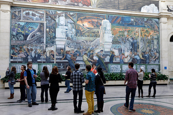 Judge rejects detroit 39 s 165m deal with creditors as for Diego rivera mural chicago