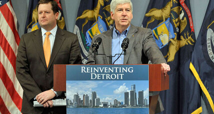 For bankrupt Detroit, is $350 million just a drop in the bucket? (+video)