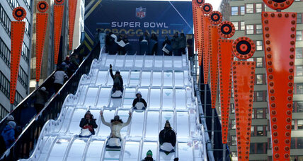 Super Bowl Boulevard is definitely not a New York state of mind
