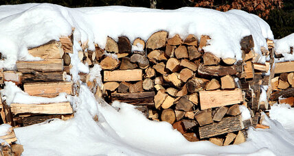 Firewood donations stock the stoves of the needy