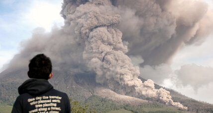 Volcanic eruptions hit western Indonesia