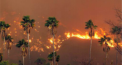 Glendora wildfire: Fire halted at LA suburbs as winds die down