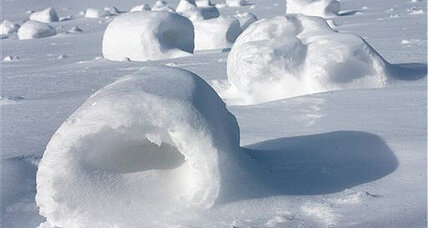 Snow rollers: Pennsylvania wind and snow create rare 'snow roller' display