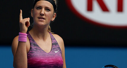 Victoria Azarenka victorious, and wants a ring with bling