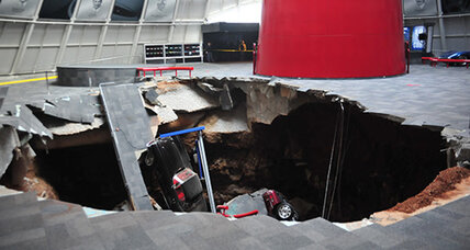 Humongous sinkhole opens beneath Kentucky's National Corvette Museum