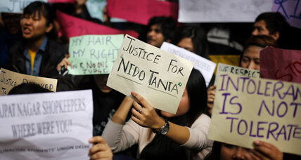 Students protest against racial profiling in India