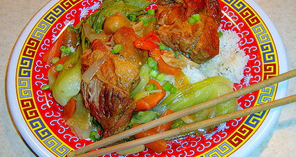 Braised pork ribs and veggies with hoisin for Chinese New Year