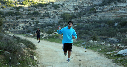 Young Palestinian runners train hard for their right to movement