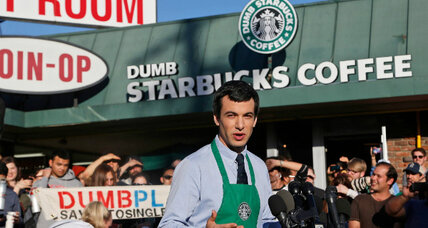 Dumb Starbucks: Funny, yes. But is it legal? (+video)