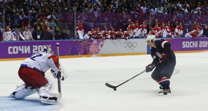 Olympic hockey: US defeats Russia. How's the home team taking it? (+video)