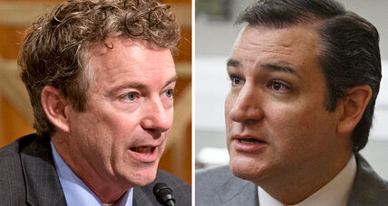 Rand Paul vs. Ted Cruz: Who's winning tea party voters? (+video)