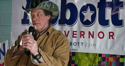 Ted Nugent on Texas campaign trail. Does he help Democrats more than GOP? (+video)