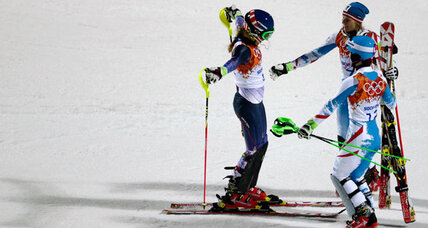 Mikaela Shiffrin overcomes 'terrifying' moment to win slalom gold for USA (+video)