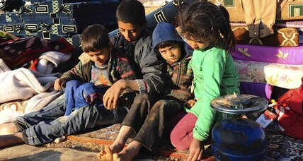 Assad offensive near Homs sends Syrians fleeing to Lebanon