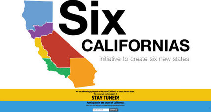 California in six easy pieces? A bid to let voters decide. (+video)