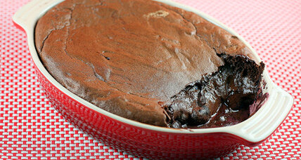 Chocolate covered cherry baked pudding