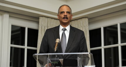 Eric Holder: Barring ex-felons from voting is unfair, counterproductive