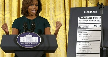 Michelle Obama pitches new food labels: more focus on sugar, less on fat (+video)