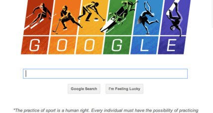 Google doodle points to Olympic Charter in defending all athletes