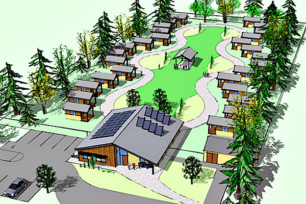 Governments and nonprofits are working together on a practical solution to homelessness through the construction of tiny house villages