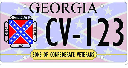 Confederate flag appears on Georgia car plates