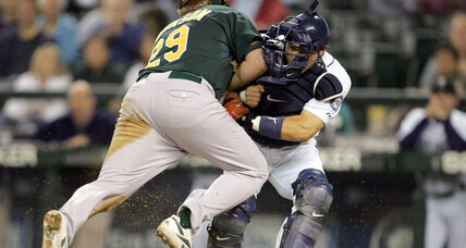 Major League Baseball adopts home plate collision ban