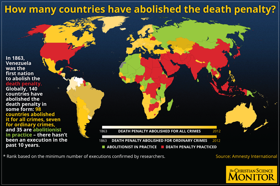 Death penalty: The state of capital punishment in the US, worldwide