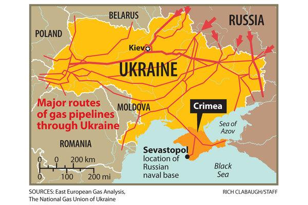 Ukraine Crisis Would Putin Shut Off Gas Again CSMonitorcom - Map ukraine over us
