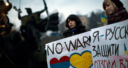 Who are the compatriots Russia strives to protect in Ukraine?