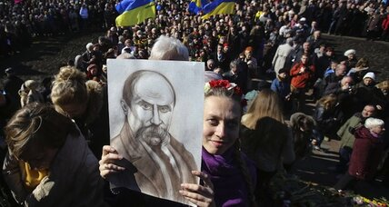 In divided Ukraine, inspiration from a poet of the underdog (+video)