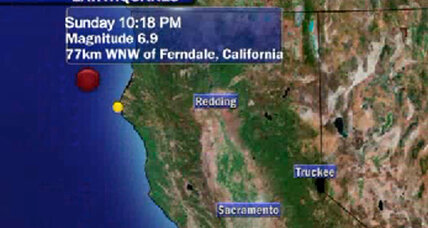 California earthquake: 6.8 temblor erupts from hot spot off northern coast (+video)