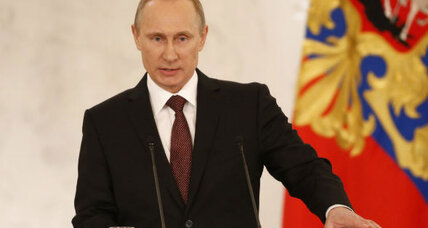 With a speech and a pen stroke, Putin takes over Crimea