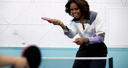 Why is Michelle Obama talking up education to the Chinese?