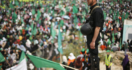 In show of strength, Hamas supporters flood downtown Gaza