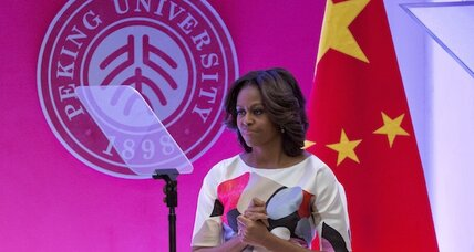 What happens to Chinese activists when a US first lady comes to visit?