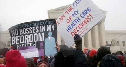 Supreme Court appears split in contraception case, with Kennedy in middle