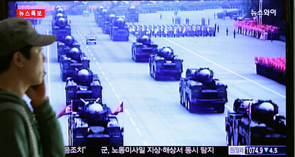 North Korea flaunts ballistic missiles as Japan and South Korea meet