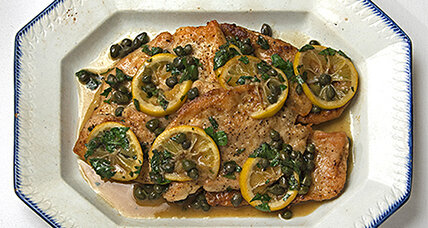 Chicken piccata, buttery and lemon bright