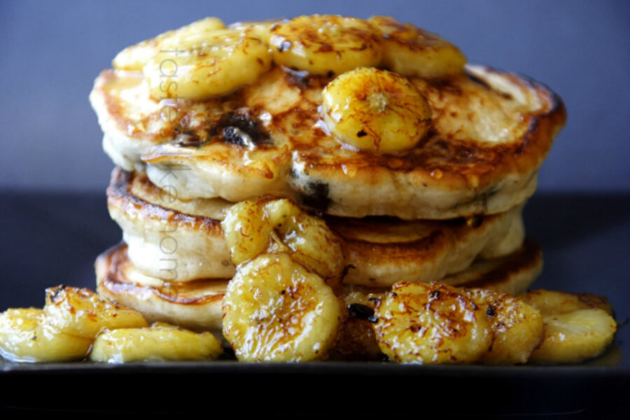 Pancake Tuesday Chocolate Chip Pancakes With Sauteed Bananas Csmonitor Com