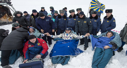 After 166 days in orbit, space station crew returns to Earth