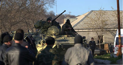 Pro-Russian forces storm Ukrainian air base in Crimea