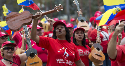 Venezuela's 'color revolution?' The complexity of wearing red. (+video)