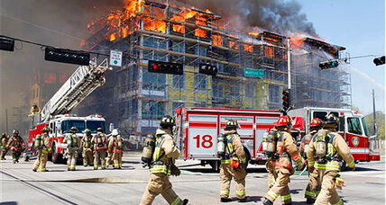 Houston fire: Five-alarm fire 'under control' after 2.5 hours of fighting