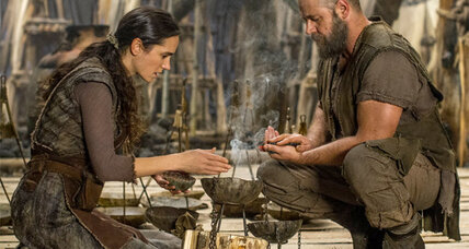 'Noah' is visually compelling and star Russell Crowe keeps the movie grounded