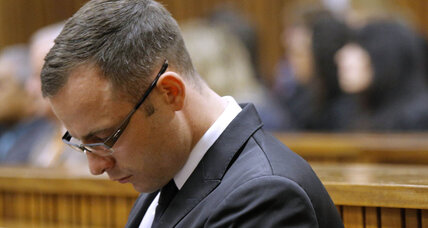 Oscar Pistorius trial: Olympian pictured with blood stains